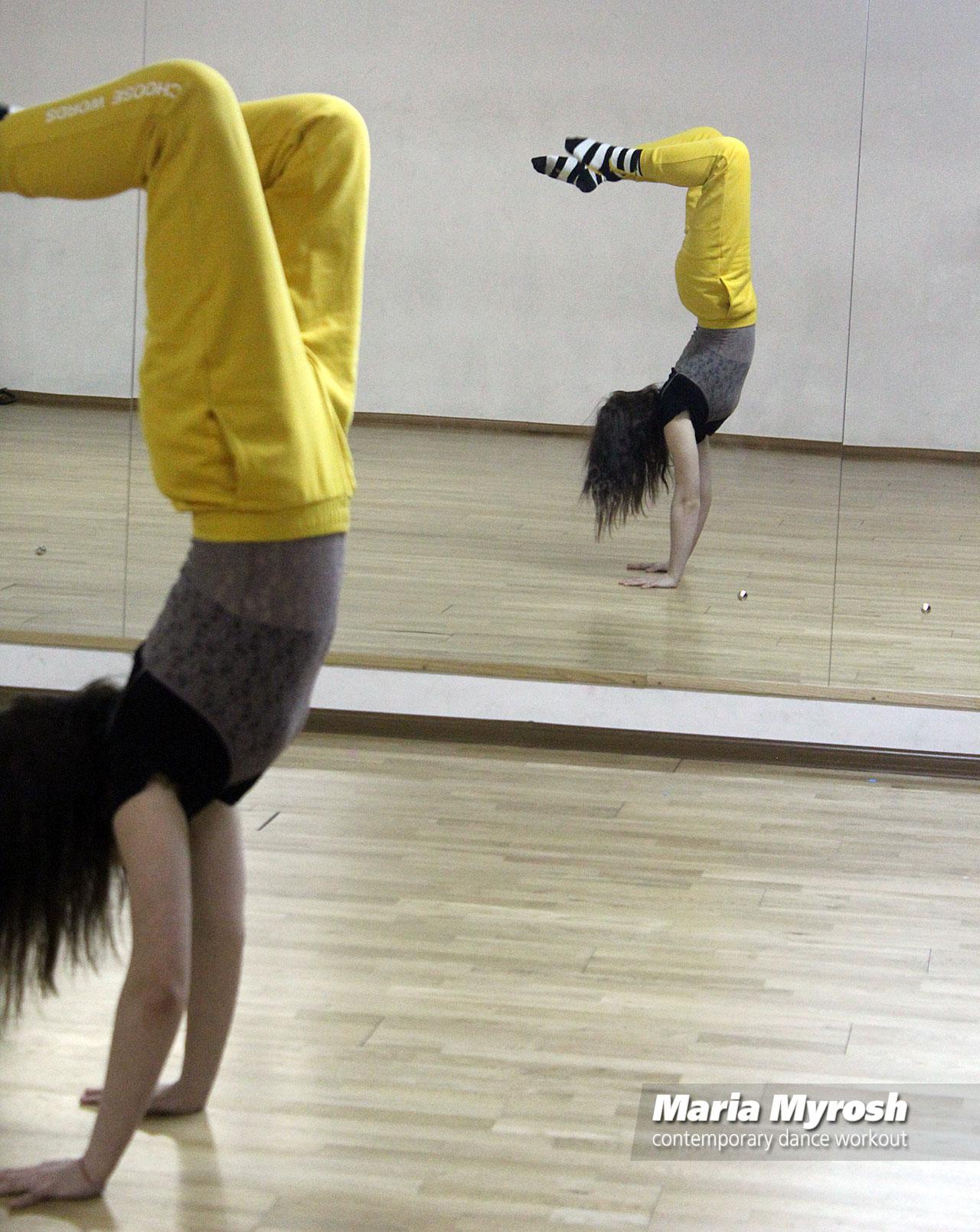 Maria Myrosh contemporary dance workout