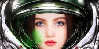 Maria Myrosh in space suit